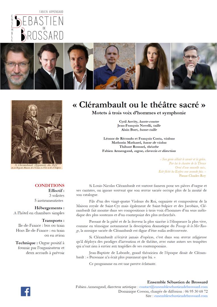 Clérambault ou le théâtre sacré